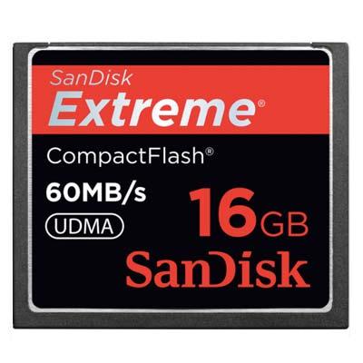 Bei uns können Sie die 60 MB/s SanDisk CF 16GB mieten.