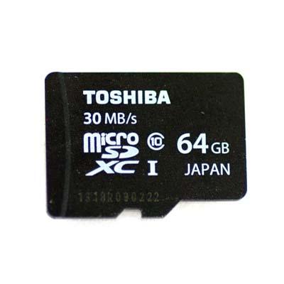 Bei uns können Sie die 64GB SDXC Toshiba MicroSD mieten.