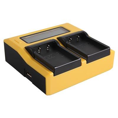 Das Patona Dual LCD Ladegerät liefern wir beim Leihen der Baxxtar LP-E6 Akkus dazu.
