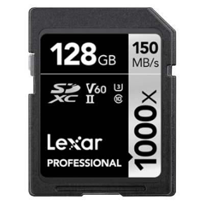 Lexar Professional 128GB SDXC U3 V60 Speicherkarte mieten.