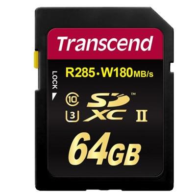 Transcend SDXC 64GB UHS-III Speicherkarte mieten.
