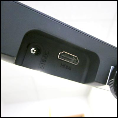 HDMI Eingang beim Vorschaumonitor AC7