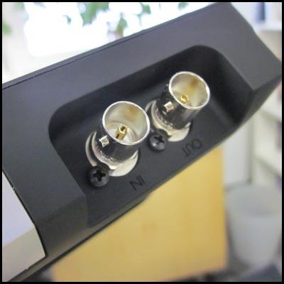 HD-SDI Eingang und Ausgang Vorschaumonitor