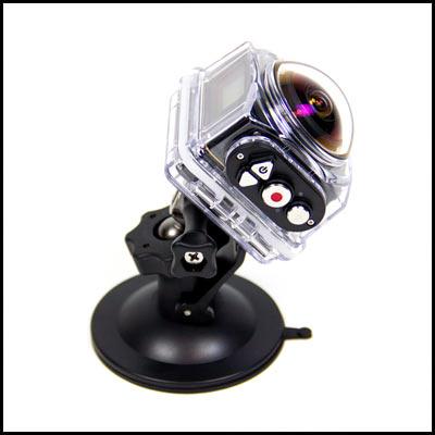 Die Kodak PixPro SP360 4K in ihrem Gehäuse.